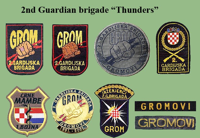Croatian armed forces insignias Cro-2g10
