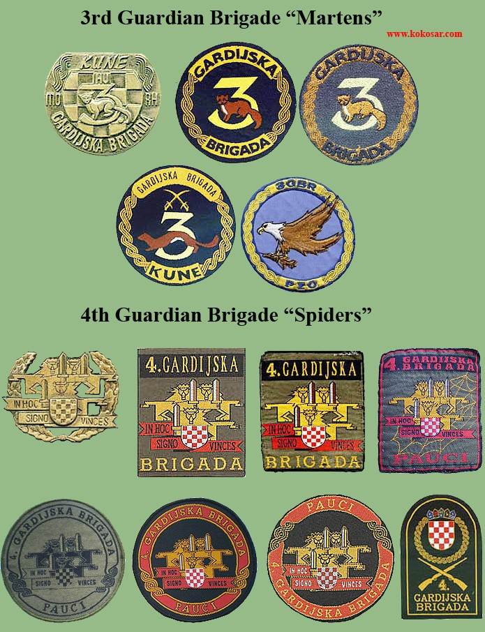 Croatian armed forces insignias Cro-3g11