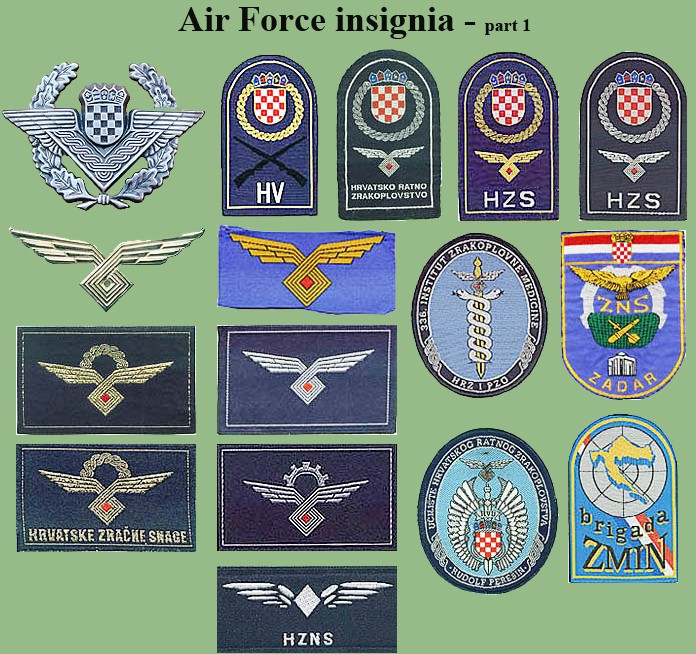 Croatian armed forces insignias Cro-af10