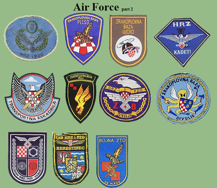 Croatian armed forces insignias Cro-af11