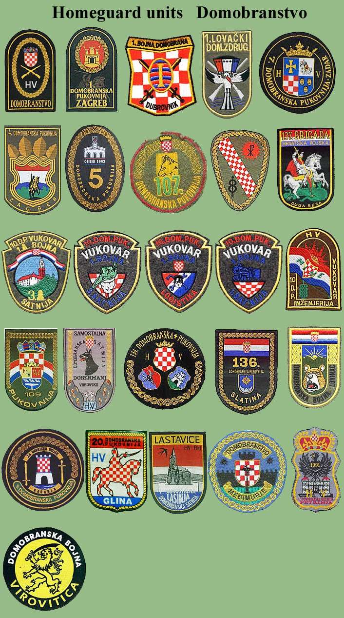 Croatian armed forces insignias Cro-do10