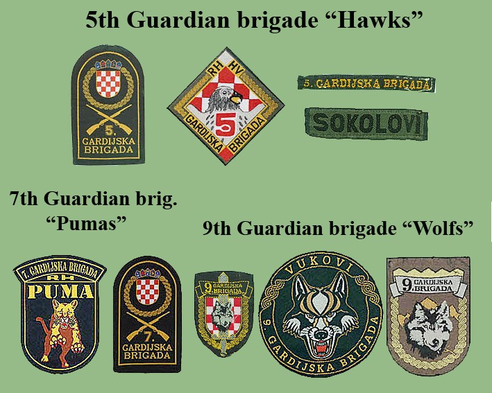 Croatian armed forces insignias Cro-gb10