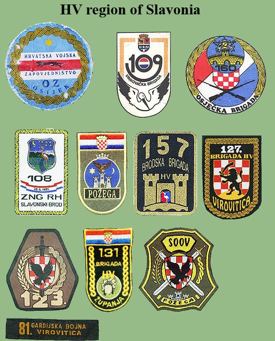 Croatian armed forces insignias Cro-sl10