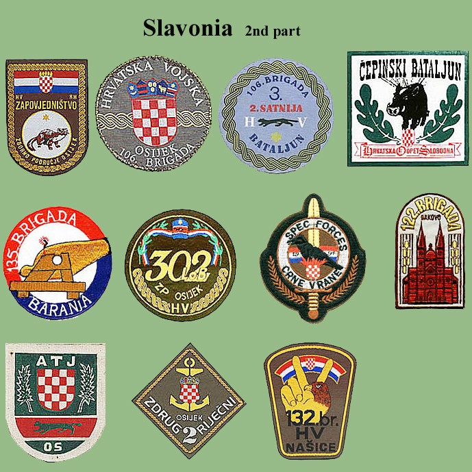 Croatian armed forces insignias Cro-sl11