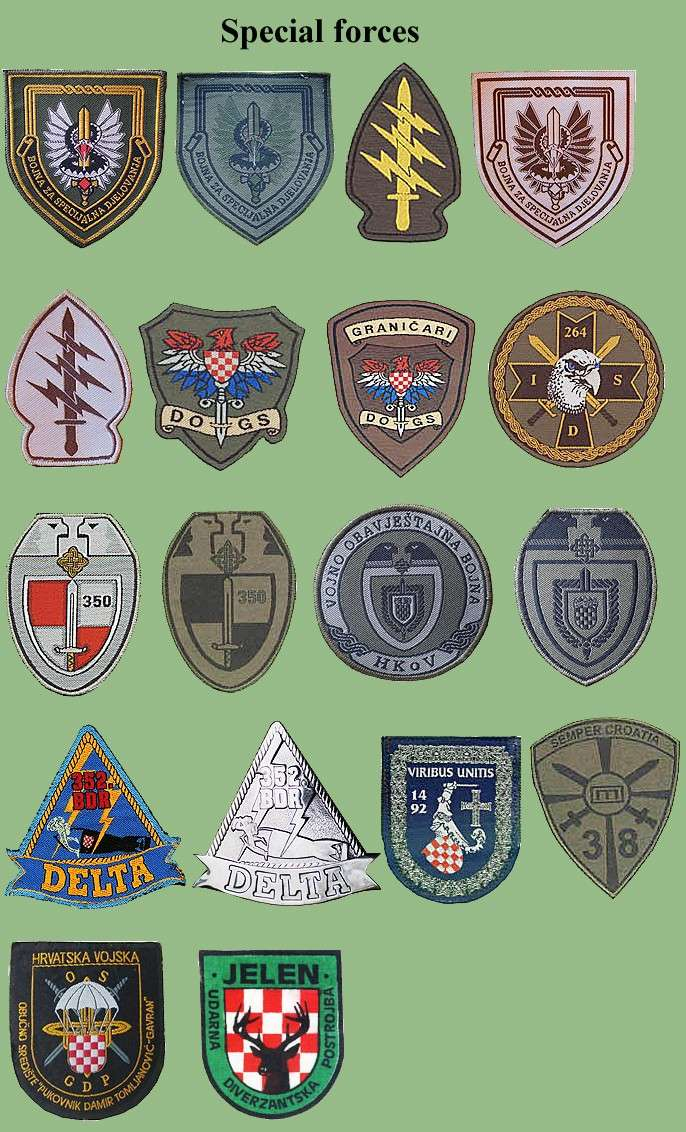 Croatian armed forces insignias Cro-sp10