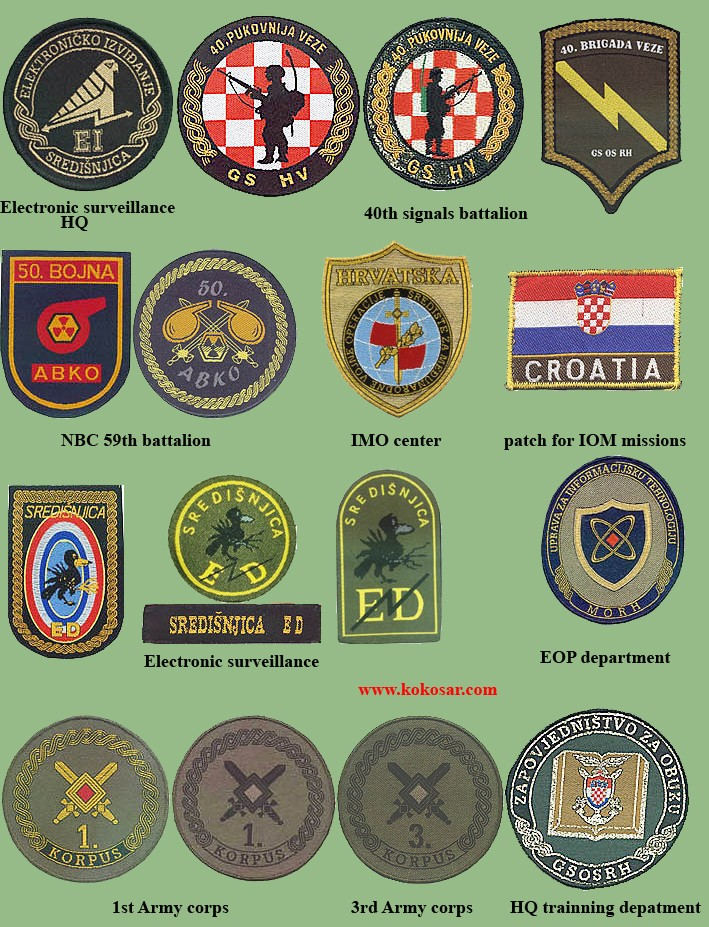 Croatian armed forces insignias Cro311