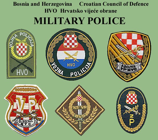 Insignias from Bosnia and Herzegovina (all three sides) Hvo-vp10