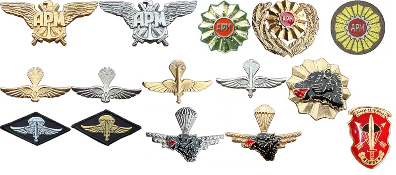 Macedonian Army patches Mak-111