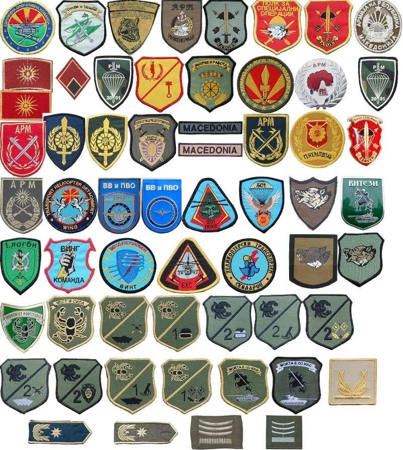 Macedonian Army patches Mak-211