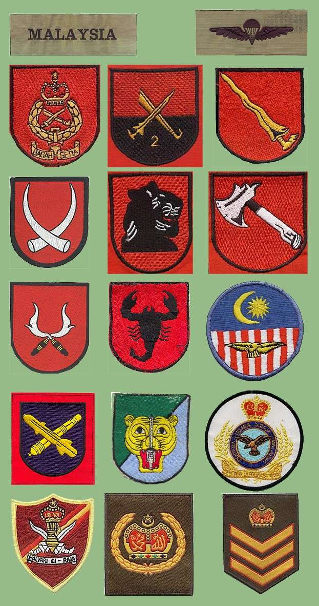 The Malaysian Armed Forces insignias Malezi12