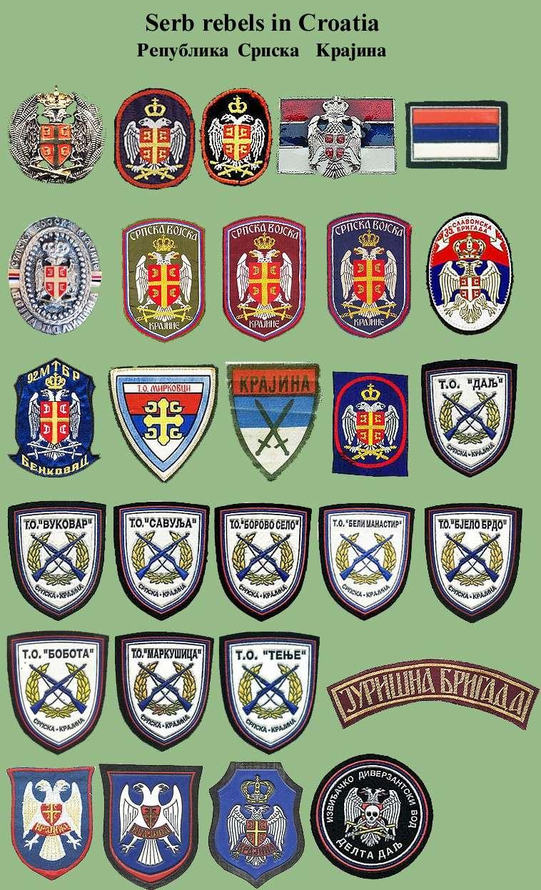Serb rebels in Croatia 1991-1995. Rsk-110