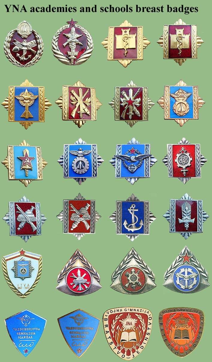 Yugoslav National Army schools badges Sfrj-a10