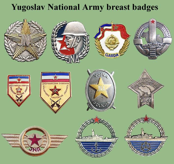 Yugoslav National Army insignias Sfrj-b10
