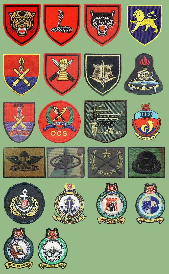 Singapore Armed Forces insignias Singap12
