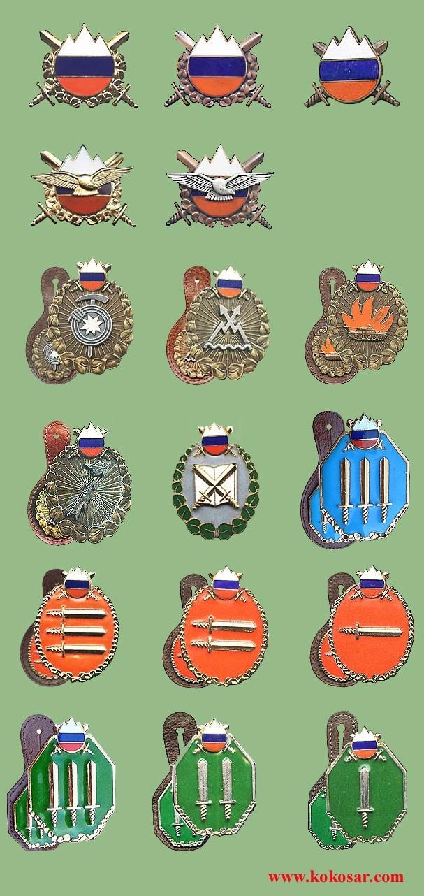 Few Slovenian armed forces insignias Slovoj10