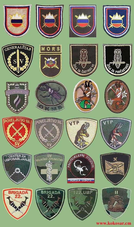 Few Slovenian armed forces insignias Slovoj12