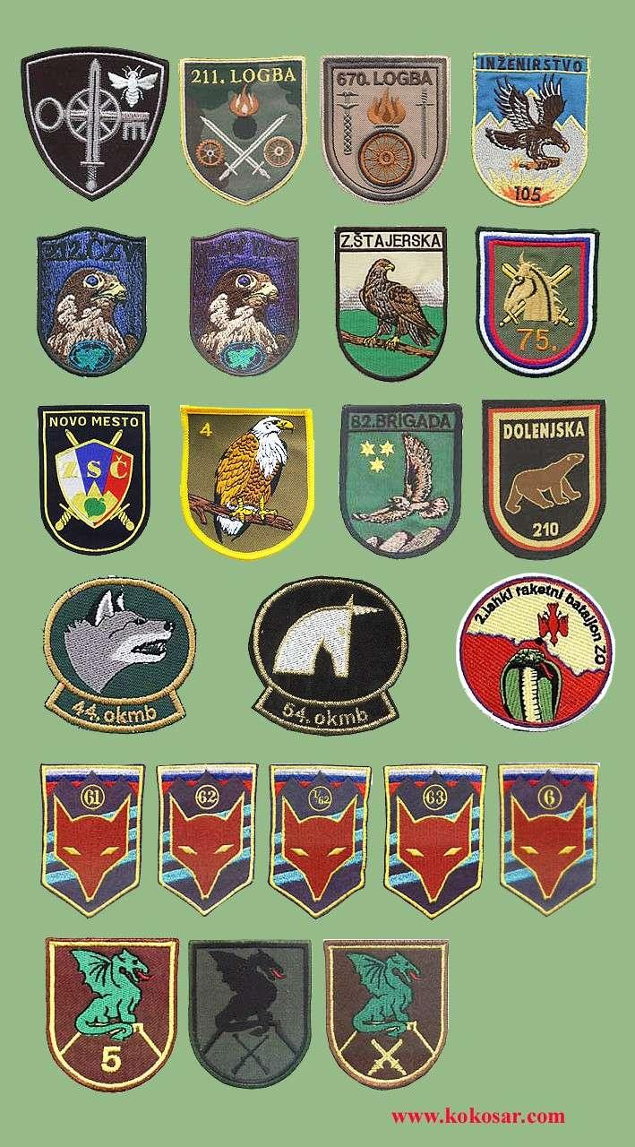 Few Slovenian armed forces insignias Slovoj13
