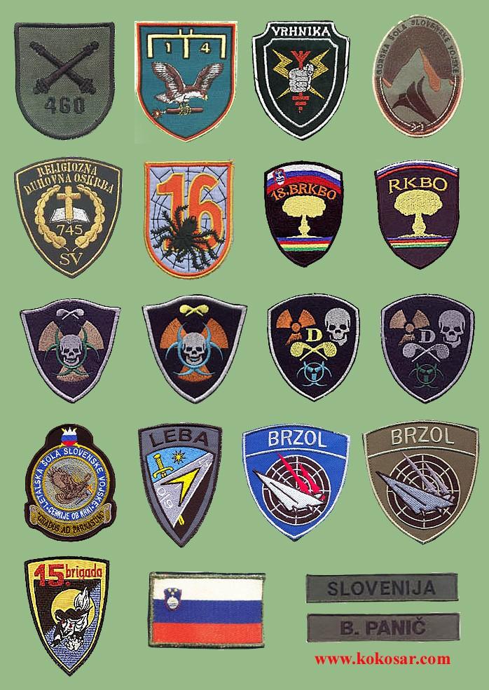 Few Slovenian armed forces insignias Slovoj14