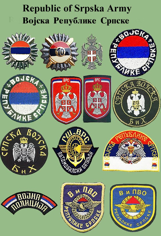 Insignias from Bosnia and Herzegovina (all three sides) Vrs-110