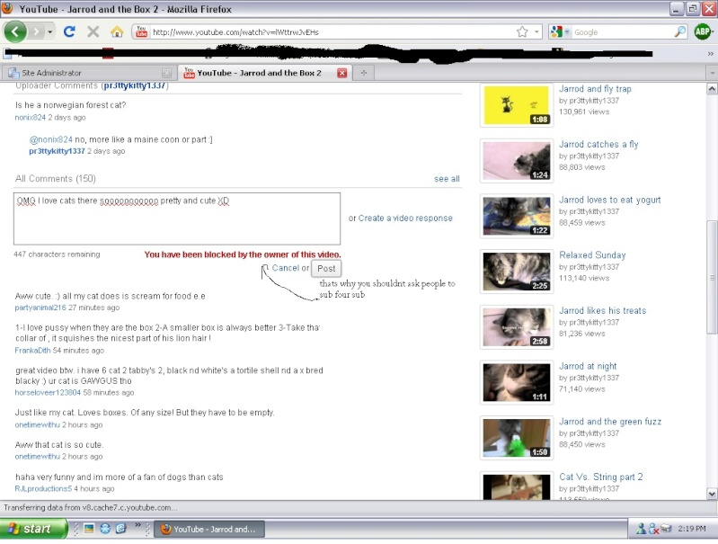 Trolling, plain and simple Youtub11