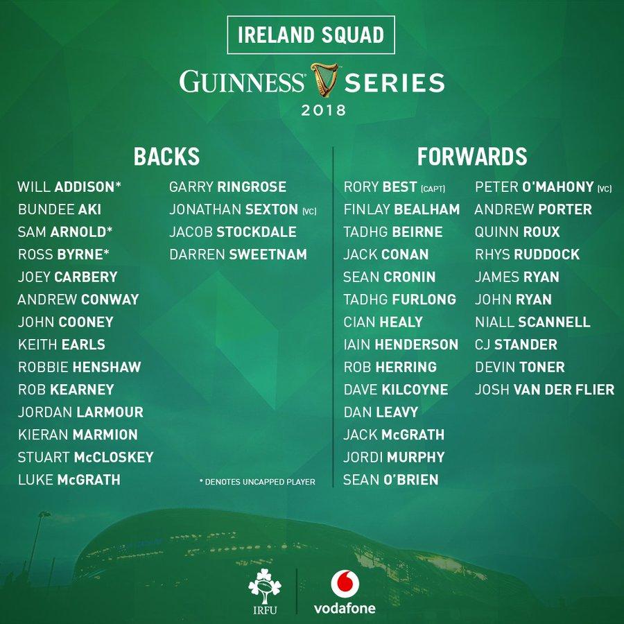 Ireland Squad Nov 2018 - Who's going to play errr England? 12529210