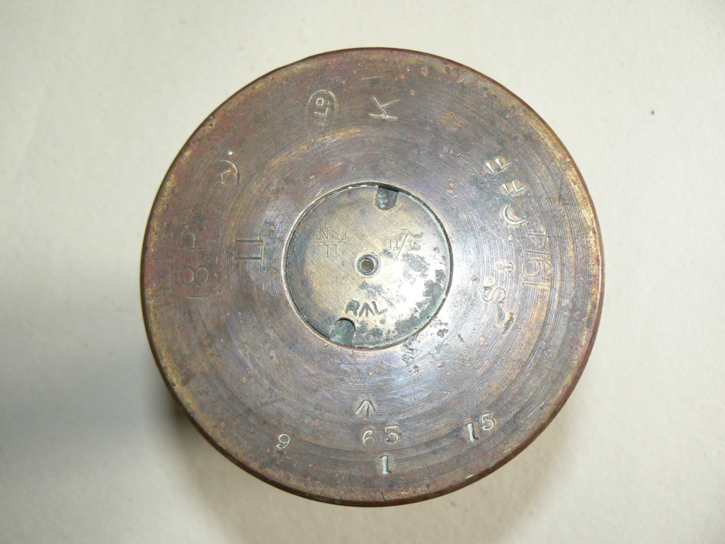 Douilles et objets de la WWI P1090838