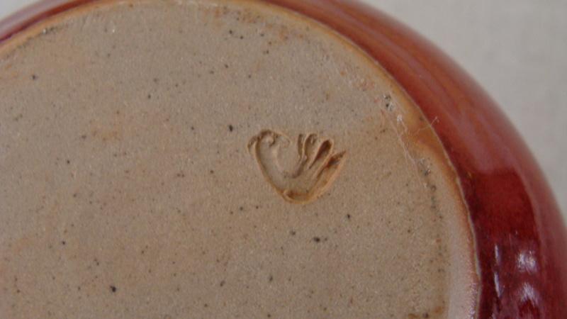 Petit vase sang de boeuf  marque à l'oiseau déjà vue  Dsc05323