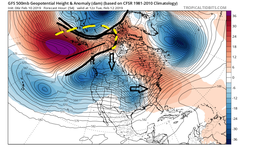 Feb. 11-12 2019 Wintry Mix Event 500mb10