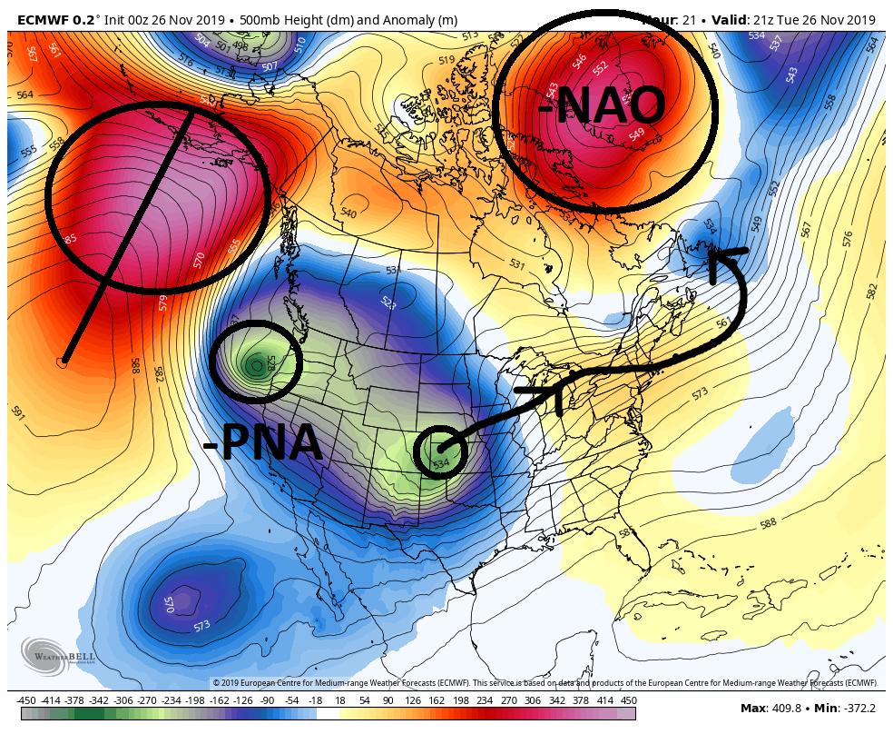 December 1st-3rd 2019 Winter Storm Potential Ecmwf-16
