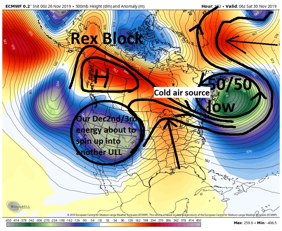 December 1st-3rd 2019 Winter Storm Potential Ecmwf-18