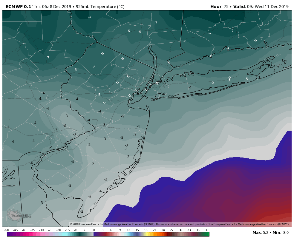December 11th 2019 Snow Potential Ecmwf-26