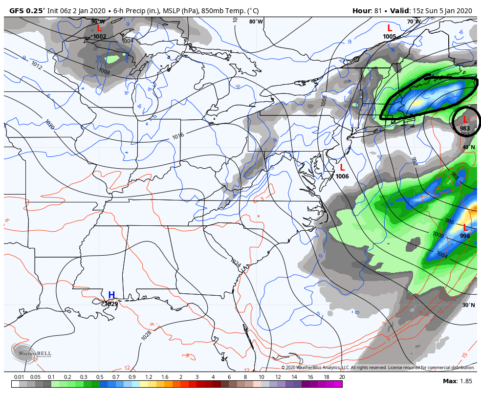 January 2020 Observations and Discussion Gfs-de13
