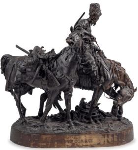 Sculpture bronze guerrier cosaque d' Eugène Lanceray  Captur19