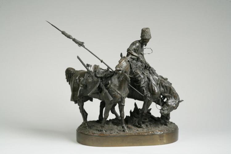 Sculpture bronze guerrier cosaque d' Eugène Lanceray  H5420-10