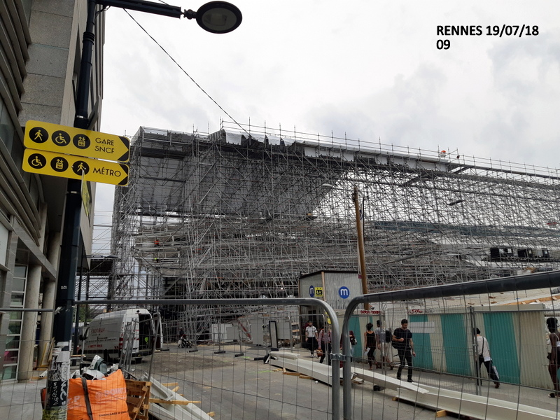 Gare de Rennes Point chantier : 19.07/18 20180184