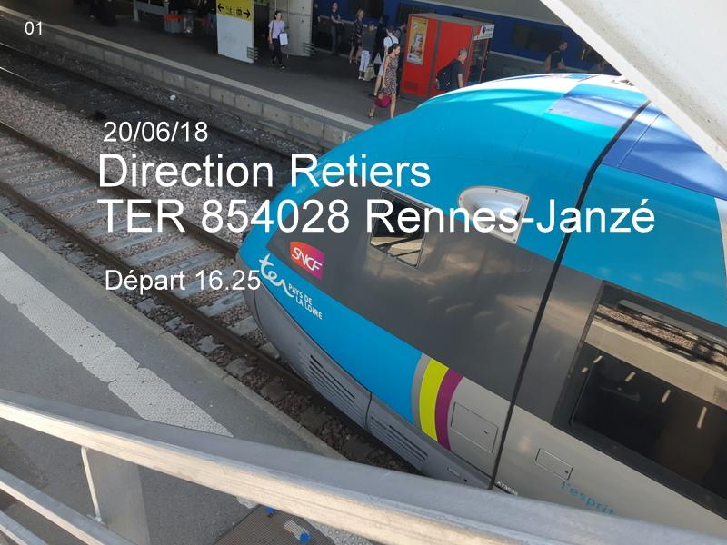 Ligne Rennes-Châteaubriant : Retiers Terminus (balade sur Janzé, Retiers 20/06/18) 20180639