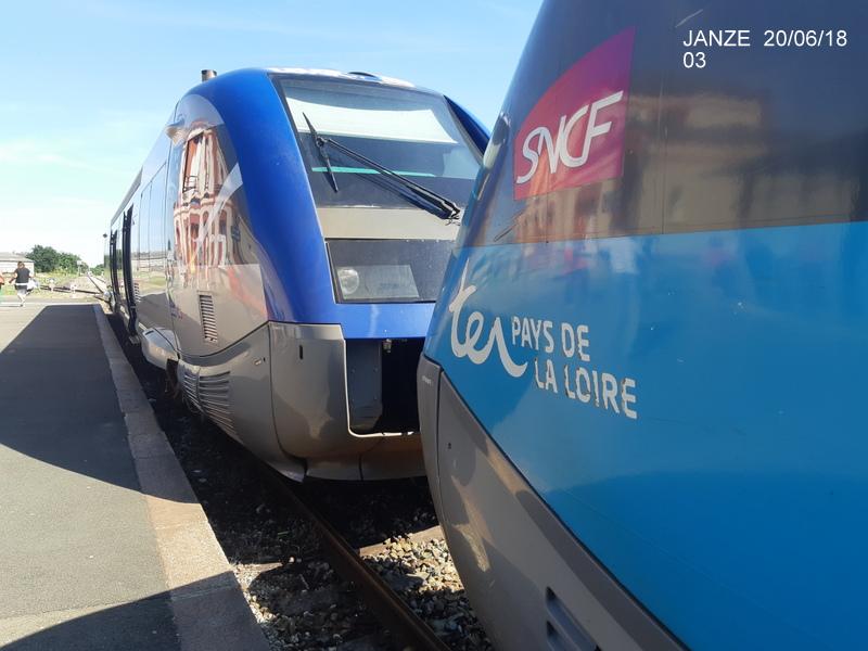 Ligne Rennes-Châteaubriant : Retiers Terminus (balade sur Janzé, Retiers 20/06/18) 20180641