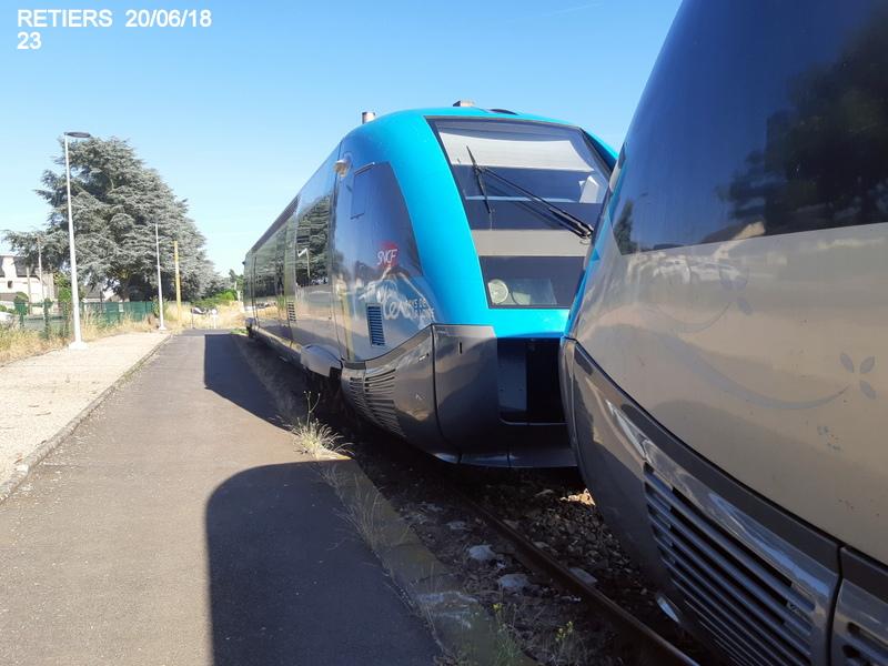 Ligne Rennes-Châteaubriant : Retiers Terminus (balade sur Janzé, Retiers 20/06/18) 20180661