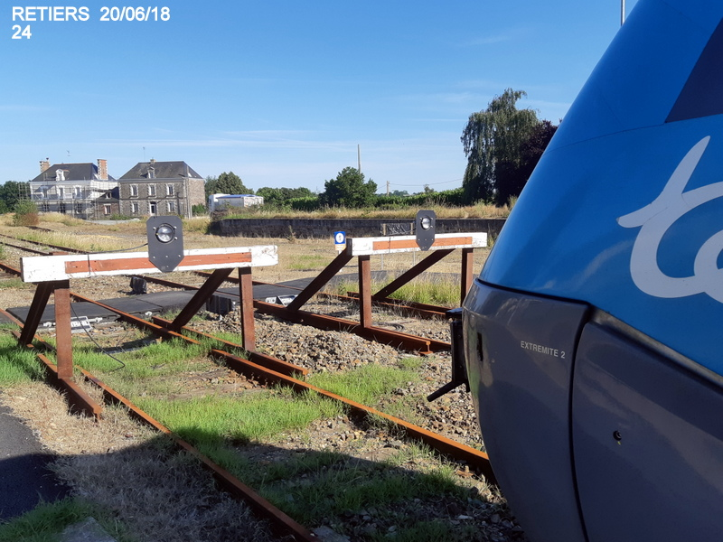 Ligne Rennes-Châteaubriant : Retiers Terminus (balade sur Janzé, Retiers 20/06/18) 20180663