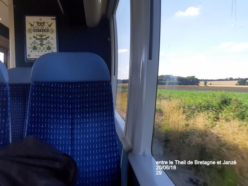 Ligne Rennes-Châteaubriant : Retiers Terminus (balade sur Janzé, Retiers 20/06/18) 20180669