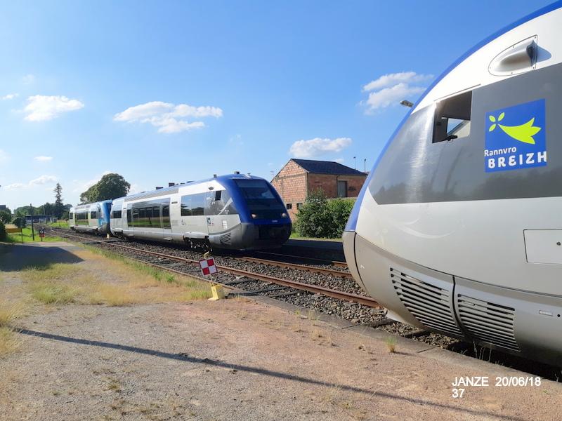 Ligne Rennes-Châteaubriant : Retiers Terminus (balade sur Janzé, Retiers 20/06/18) 20180679