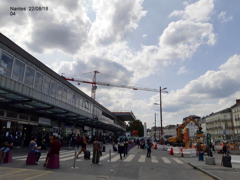 Petite balade Nantes 22/08/18 : Gare et chantier ligne A Tram 20180853