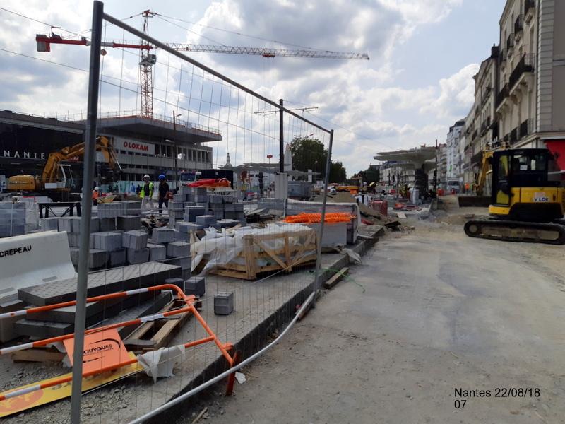 Petite balade Nantes 22/08/18 : Gare et chantier ligne A Tram 20180856