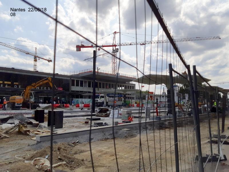 Petite balade Nantes 22/08/18 : Gare et chantier ligne A Tram 20180857