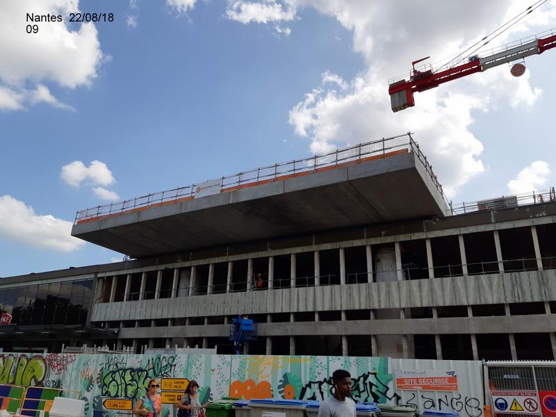 Petite balade Nantes 22/08/18 : Gare et chantier ligne A Tram 20180858