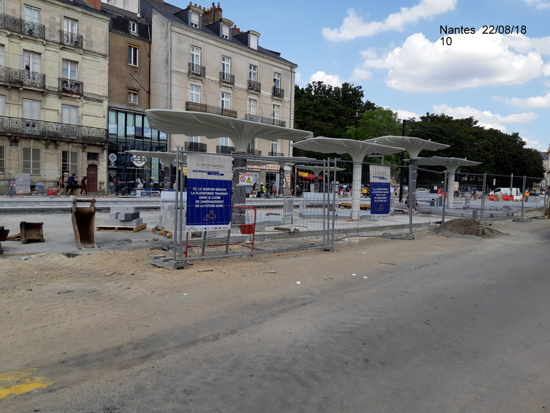 Petite balade Nantes 22/08/18 : Gare et chantier ligne A Tram 20180859