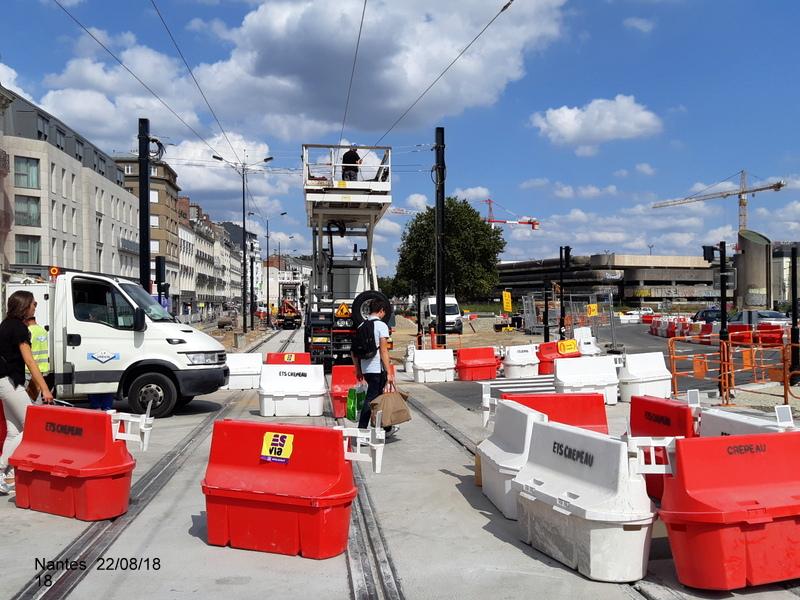 Petite balade Nantes 22/08/18 : Gare et chantier ligne A Tram 20180867