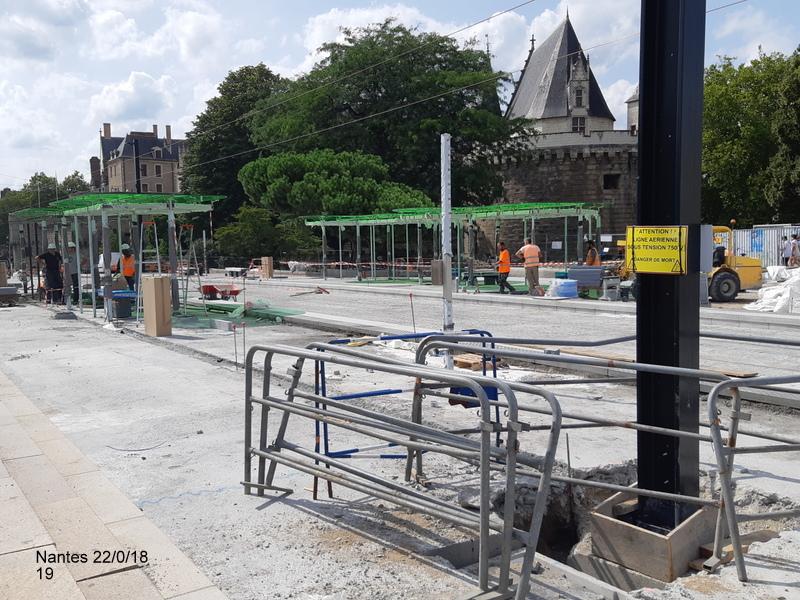 Petite balade Nantes 22/08/18 : Gare et chantier ligne A Tram 20180868