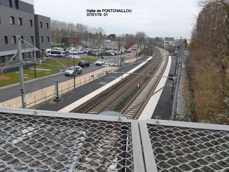 Ligne Rennes-St Malo. Halte de Pontchaillou (07/01/19) 20190151