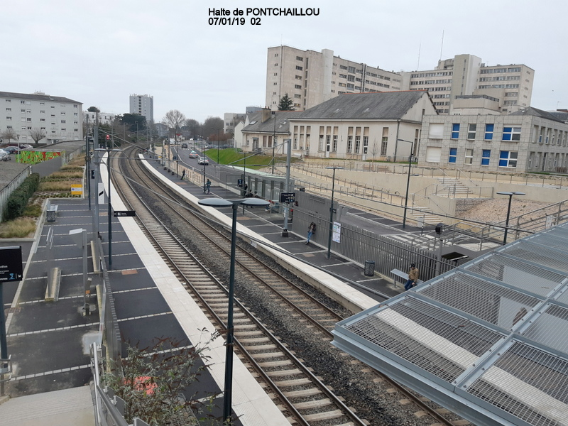 Ligne Rennes-St Malo. Halte de Pontchaillou (07/01/19) 20190152